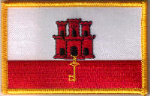 Gibraltar Embroidered Flag Patch, style 08